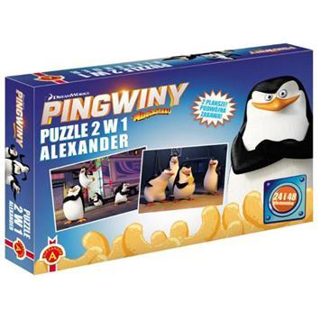 ALEXANDER Puzzle 2w1 Pingwiny z Madagars