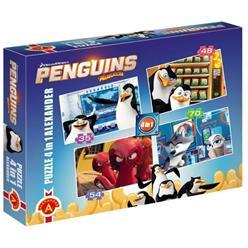 ALEXANDER Puzzle 4w1 Pingwiny z Madagars