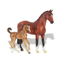 BREYER Koń ze źrebakiem Bay Warmblood